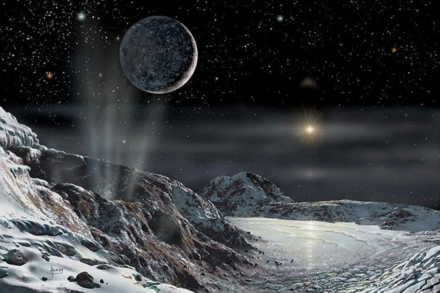تصویری هنری از پلوتو قمرش شارون