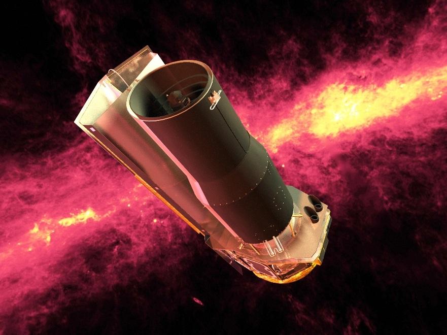 تصویری هنری از تلسکوپ فضایی اسپیتزر