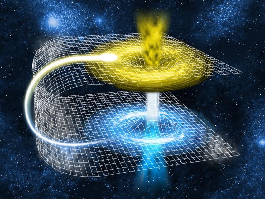 تاشدگی فضا-زمان می تواند منجر به خلق کرم چاله هایی برای انجام سفرهایی با سرعت سریع تر از نور و سفرهای زمانی شود.