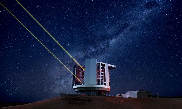 تصویری هنری از تلسکوپ عظیم ماژلان که در شیلی ساخته خواهد شد.