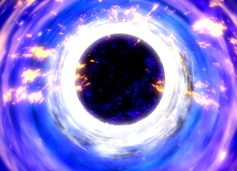 تصویری هنری از سیاهچاله