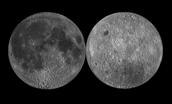 نمایی از دو سوی ماه