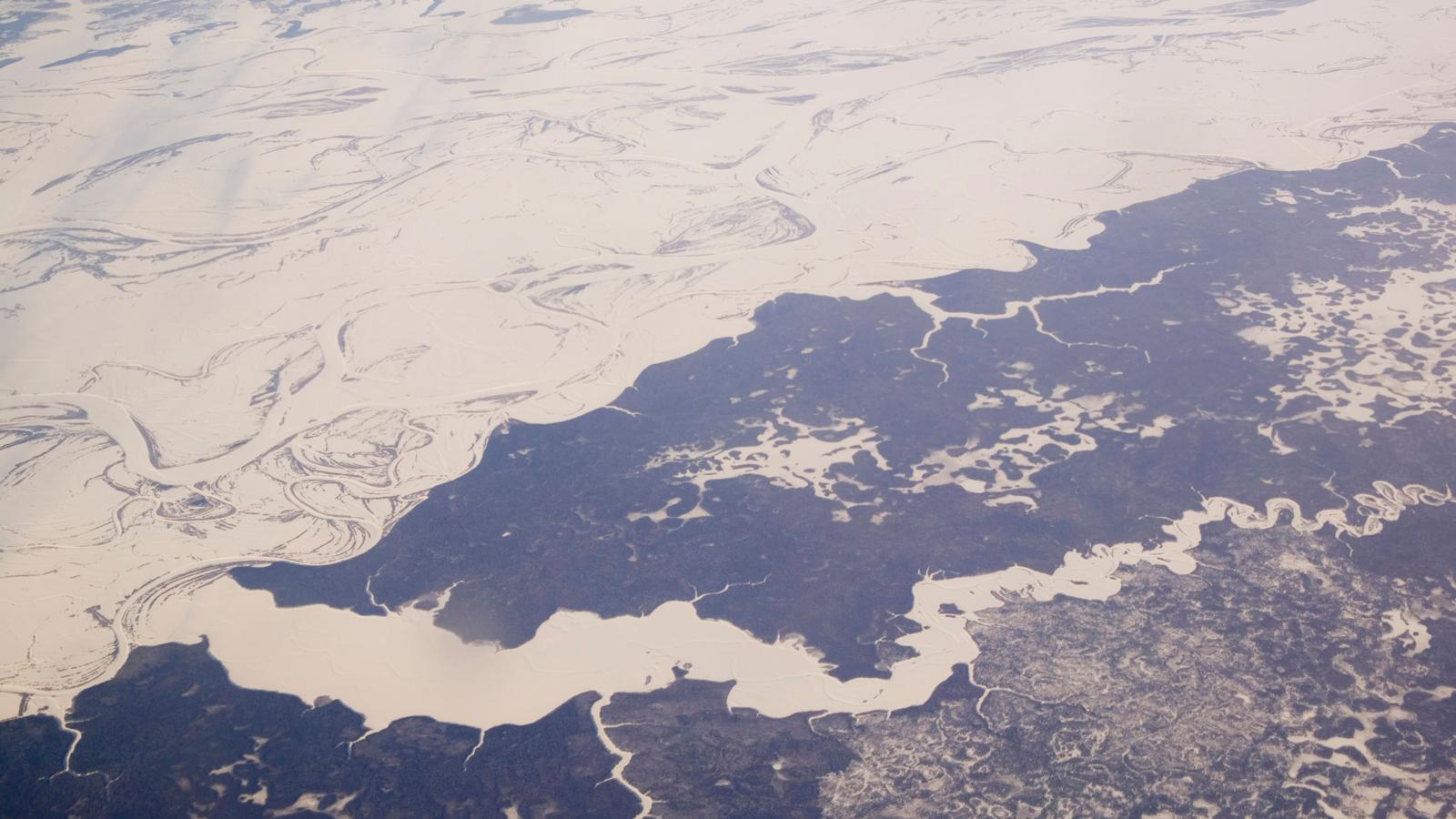 تصویری از توندرای یخی در قطب