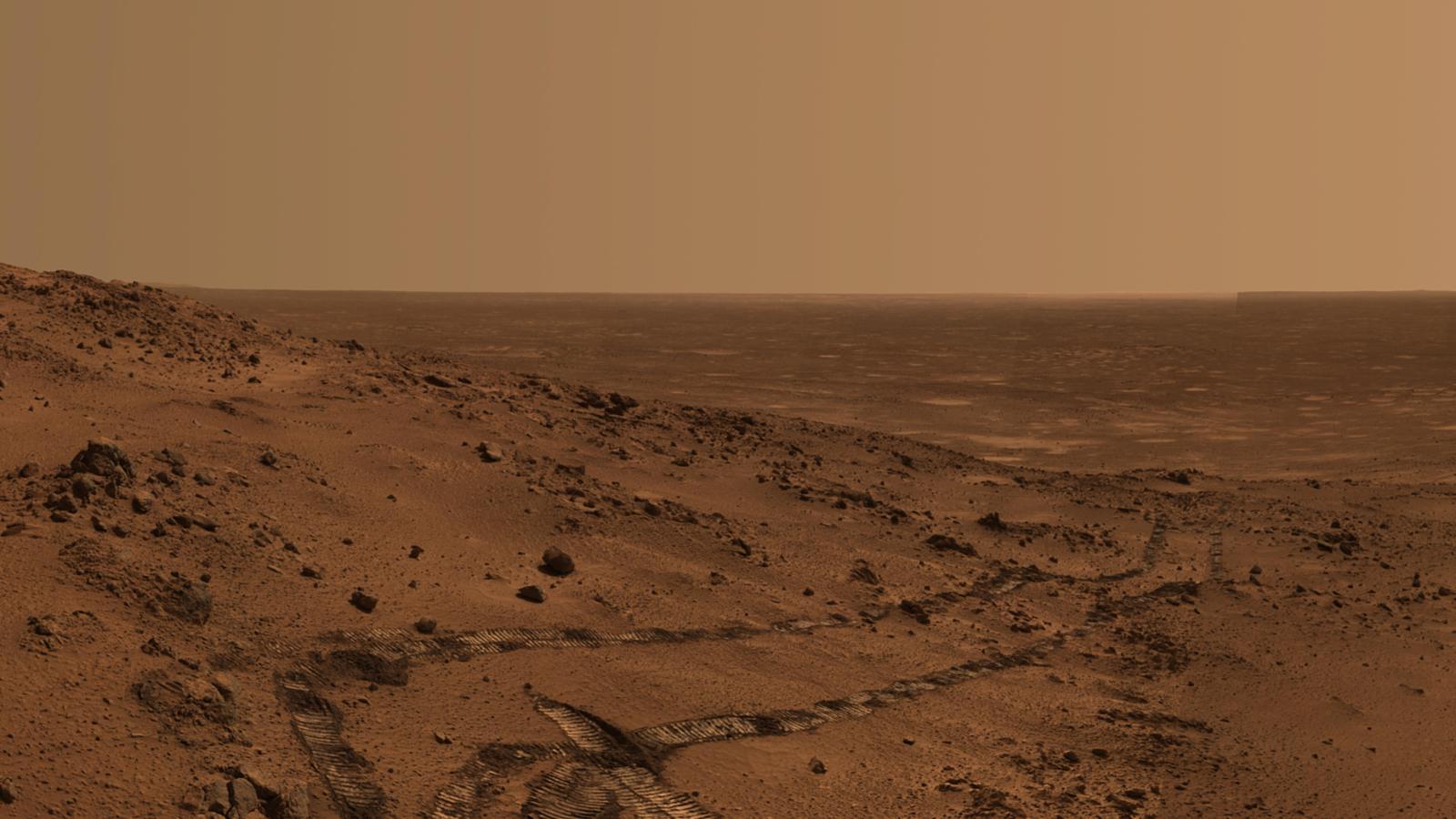 تصویری از سطح سیاره ی مریخ