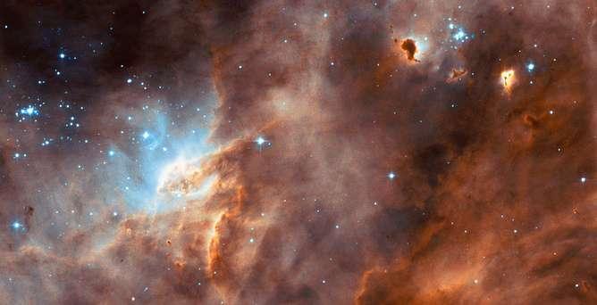 نمایی از ابر ماژلانی بزرگ مملو از ستاره