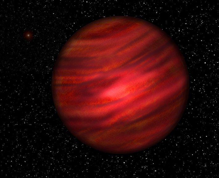 تصویری هنری از این سیاره ی غول پیکر گازی