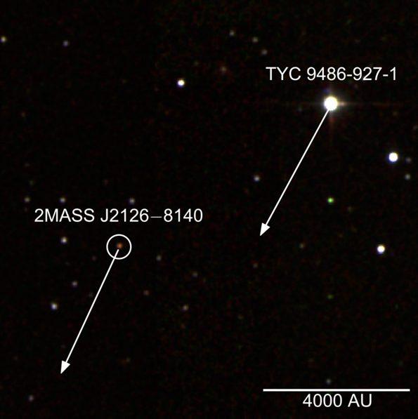تصویری واقعی از فاصله ی این سیاره و ستاره ی مادری اش