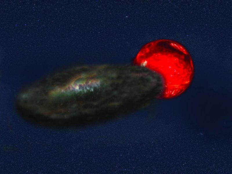 تصویری هنری از سیستم دو ستاره ای TYC-2505-672-1