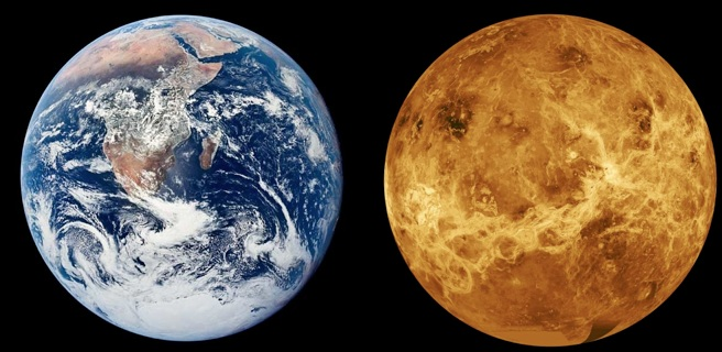 Earth-and-Venus