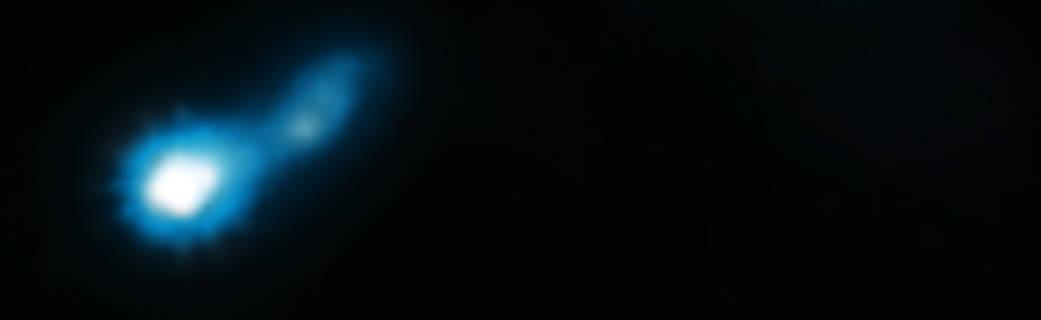 فواره ی بلند پرتو ایکس که از اختروش B3 0727+409 بیرون زده است.