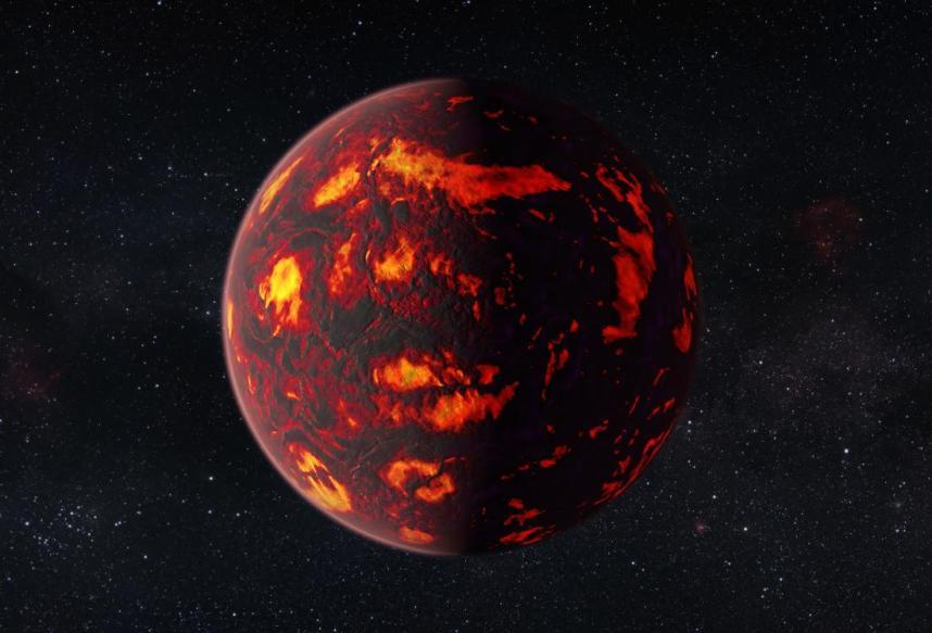 تصویری هنری از سیاره ی 55 Cancri e