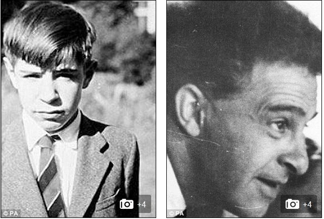 """عکس """"دیکران تهتا"""" معلم هاوکینگ(راست)، کودکی استیون هاوکینگ(چپ)"""