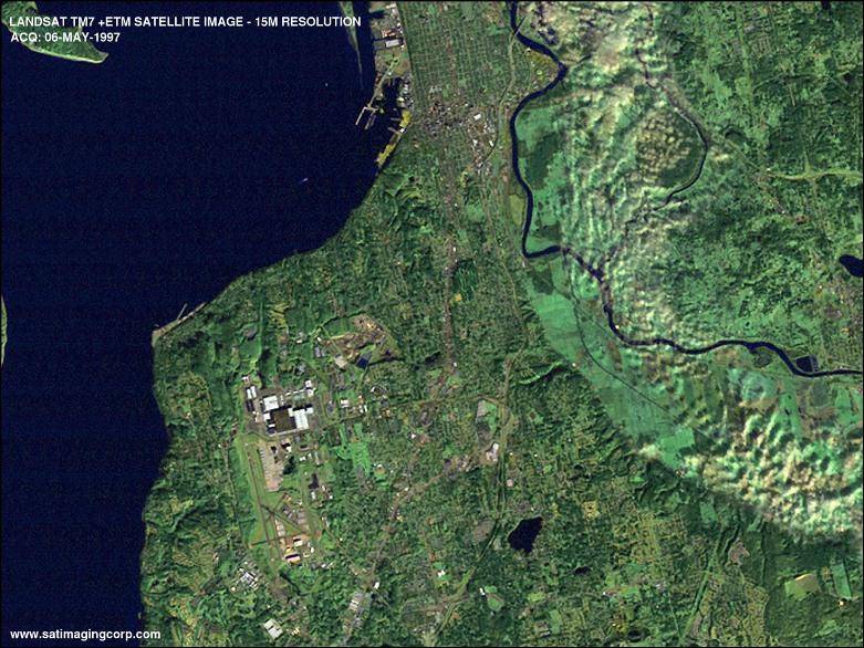 عکسبرداری ماهواره ای انقلابی در نقشه برداری پدید آورده است. عکسی از ماهواره ی لند ست از زمین