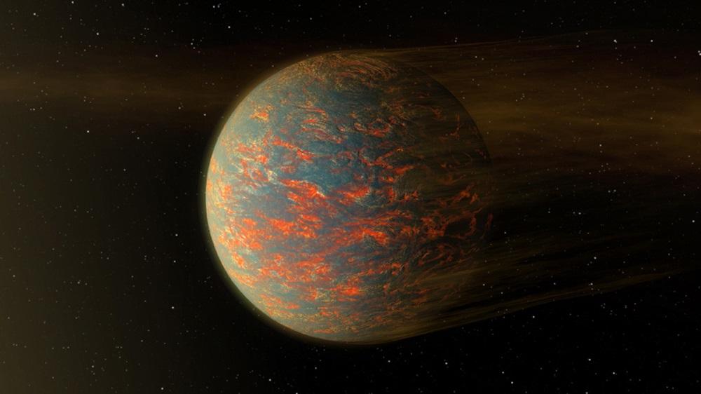 تصویری هنری از سیاره ی ۵۵ Cancri