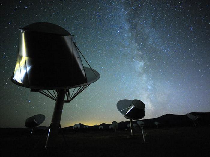 تصویری از آرایه تلسکوپی آلن