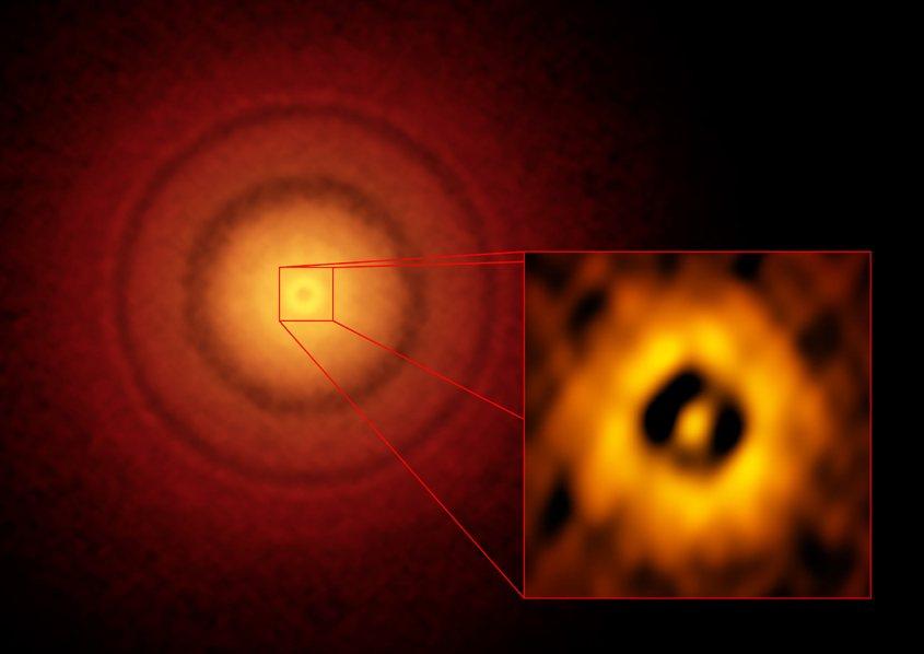 شکل گیری سیاره ای مشابه ِ زمین در دیسک ستاره ای