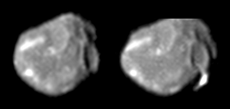 عکس آمالتئا، توسط کاوشگر فضایی گالیله گرفته شد.