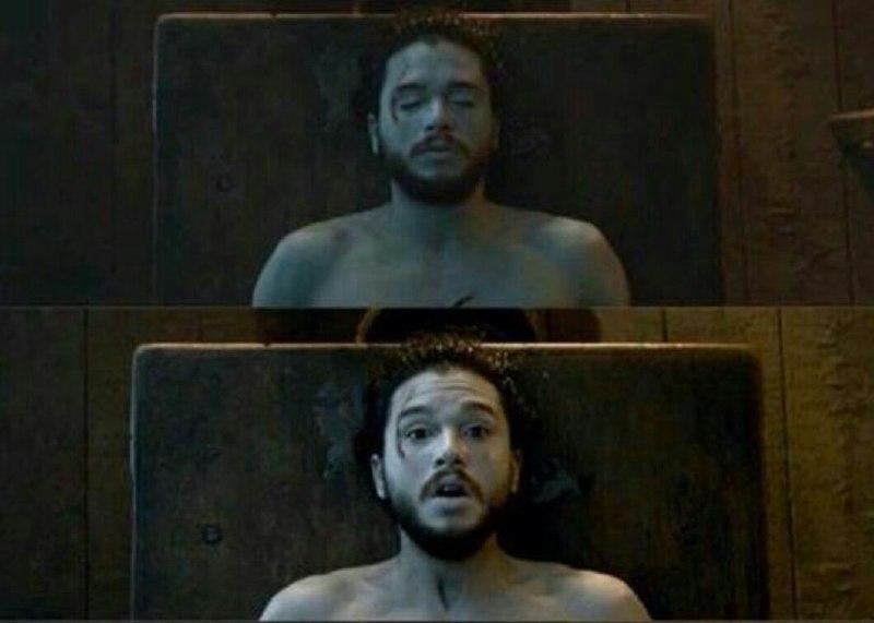 """صحنه ای از سریال """"بازی تاج و تخت"""" و زنده شدن جان اسنو - تزئینی"""