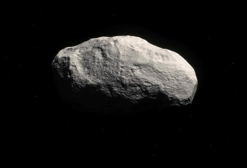 تصویری هنری از دنباله دار C/۲۰۱۴ S۳ که از روی داده های واقعی طراحی شده است.