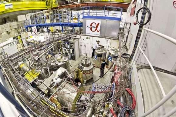 آزمایش آزمایش دستگاه لیزر فیزیکی پادهیدروژن(ALPHA)، یکی از پنج آزمایش برای شناسایی پاد ماده