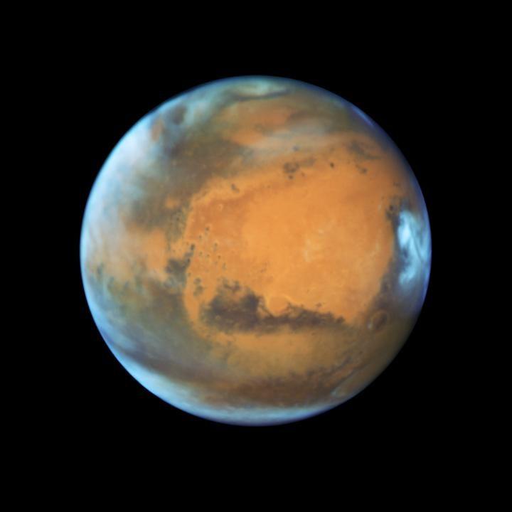 عکسی که تلسکوپ فضایی هابل از مریخ گرفته