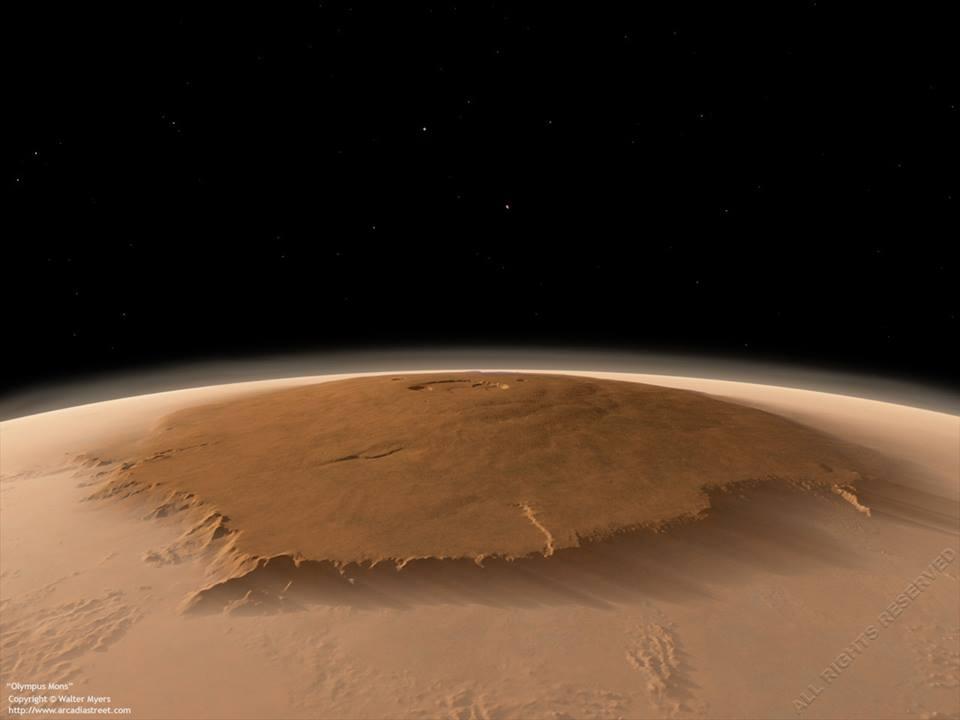 کوه مرتفع ِ المپوس در مریخ