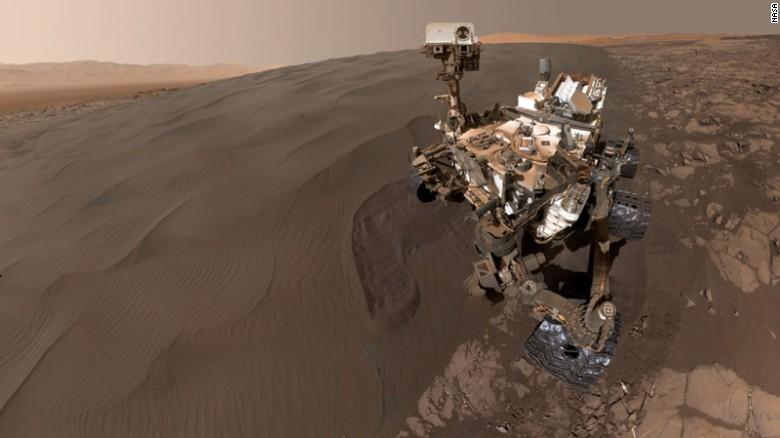 نمایی از مریخ نورد کنجکاوی