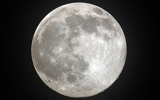 A full Moon rises over the Northern Indi