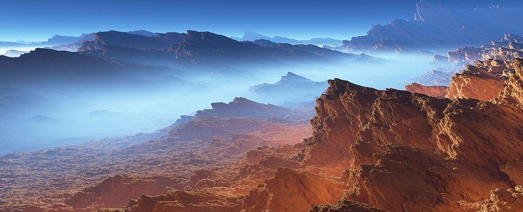 تصویری هنری از سطح تیتان