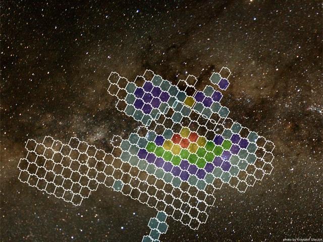 ناحیه ای از هسته کهکشان که توسط پروژه OGLE برای رویدادهای ریزهمگرایی گرانشی رصد می شود