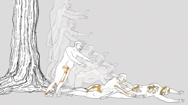 نحوه ی افتادن و در نتیجه مرگ لوسی