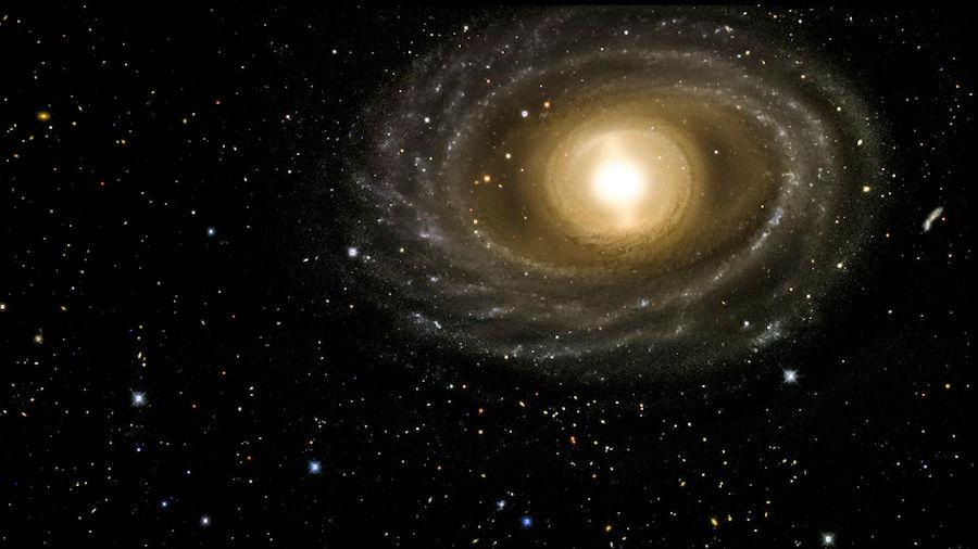 این عکس با دوربین انرژی تاریک گرفته شده است که کهکشان NGC 1398 را نشان می دهد. این کهکشان حاوی بیش از صد میلیون ستاره می باشد و در خوشه فورناکس(Fornax) واقع شده، فاصله آن از زمین در حدود 65 میلیون سال نوری تخمین زده می شود.