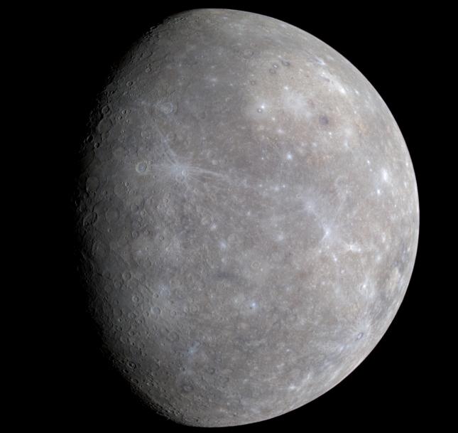 عکسی از سیاره ی عطارد در رنگ ِ طبیعی