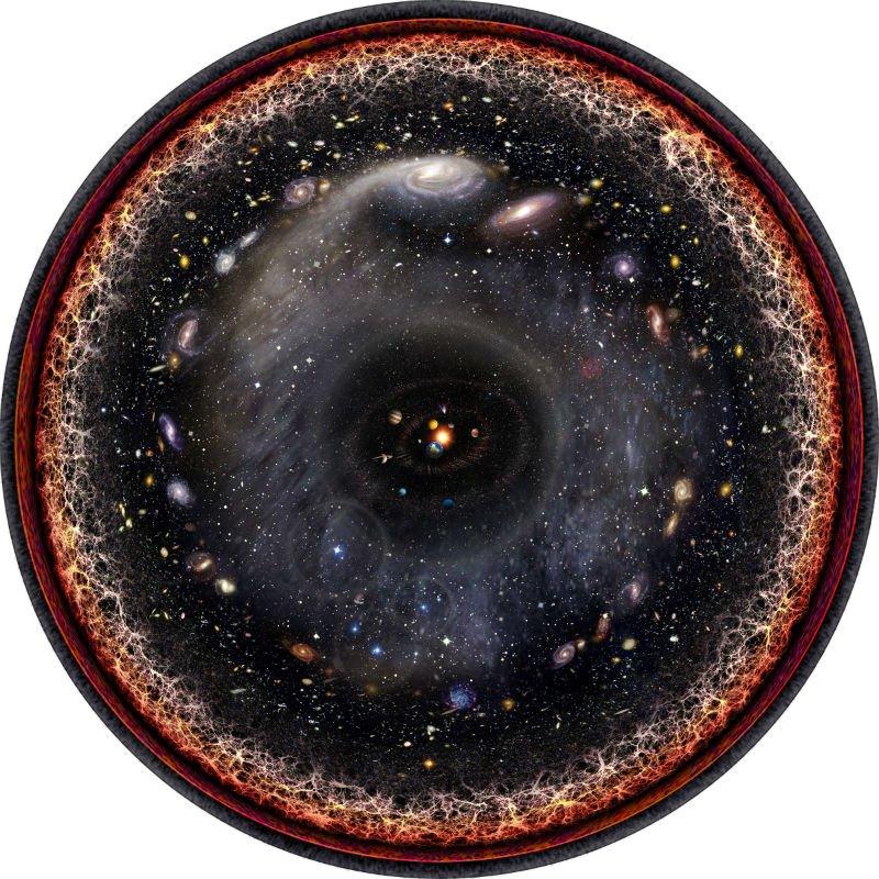 تصویری هنری از کل جهان قابل مشاهده- اثر: پابلو کارلوس بوداسی