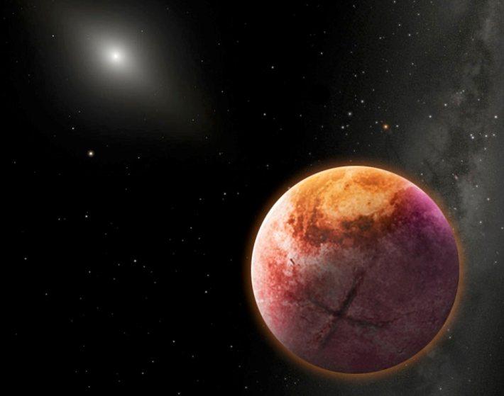 تصویری هنری از سیاره نهم