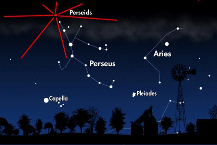 برای مشاهده شهاب باران به شمال شرقی آسمان، سمت ِ صورت فلکی برساوش نظاره کنید.