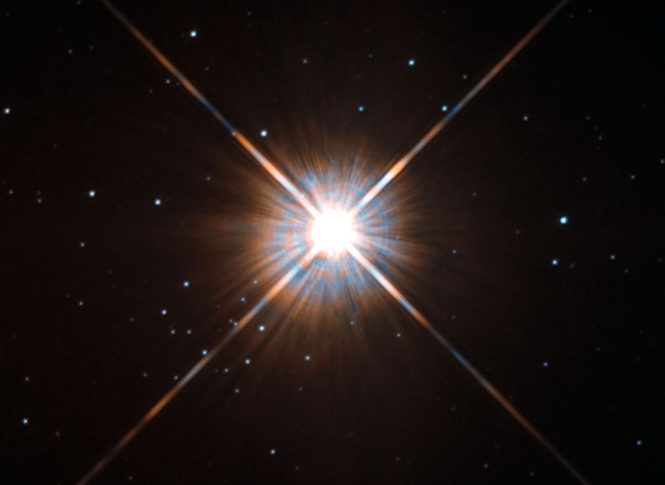 عکسی از ستاره ی پروکسیما قنطورس که تلسکوپ هابل ثبت کرده است