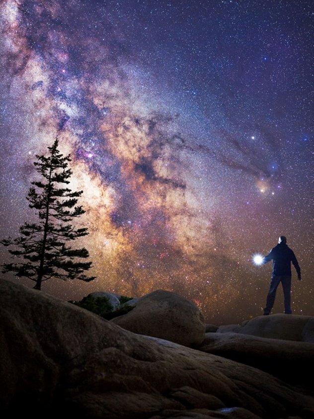 نمایی زیبا از کمان ستارگان کهکشان راه شیری- عکس از گرت ایوانز