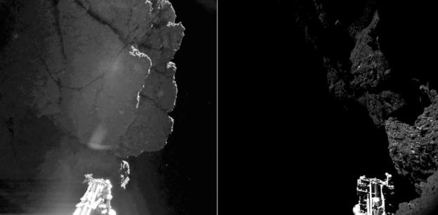 عکس های خود فیله نیز به پیدا شدنش در دنباله دار کمک کرد
