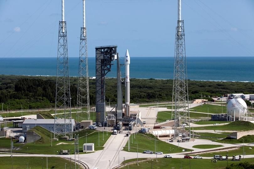 فضاپیمای OSIRIS-REx ساعاتی پیش از پرتاب سوار بر موشک اطلس