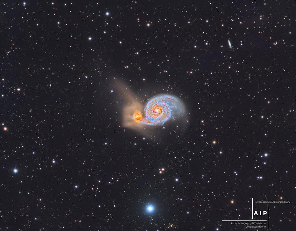 تصویری از کهکشان مسیه 51 یا گرداب