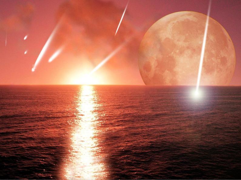 تصوری هنری از برخورد شهاب سنگی به زمین جوان. آیا شهاب سنگها فسفر را به زمین آورده اند؟