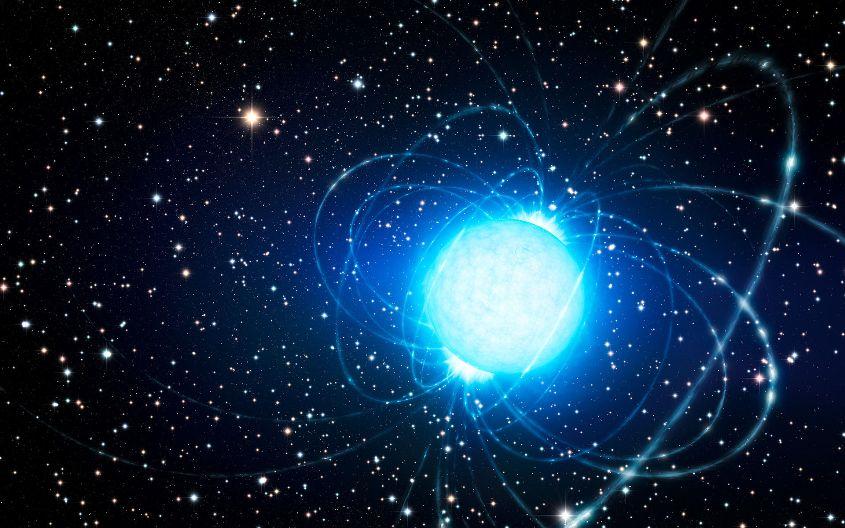 تصویری هنری از یک ستاره ی مغناطیسی