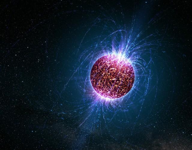 تصویری هنری از یک ستاره ی نوترونی