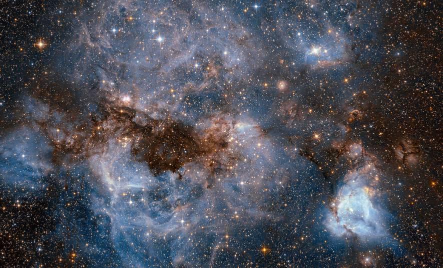 تصویری از سحابی N159 در ابرماژلانی بزرگ