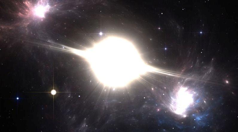 نمایی هنری از یک انفجار ابرنواختری