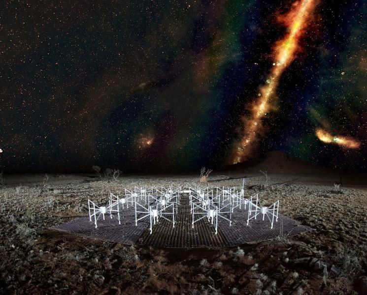 نمای آسمان از منظر آرایه تلسکوپ رادیویی استرالیا