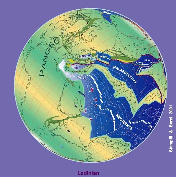 نمایی از زمین در دوره تریاسه
