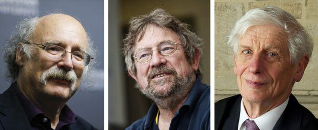برندگان نوبل فیزیک امسال، از چپ: دانکن هالدین، جان کوسترلیتز و دیوید تولس