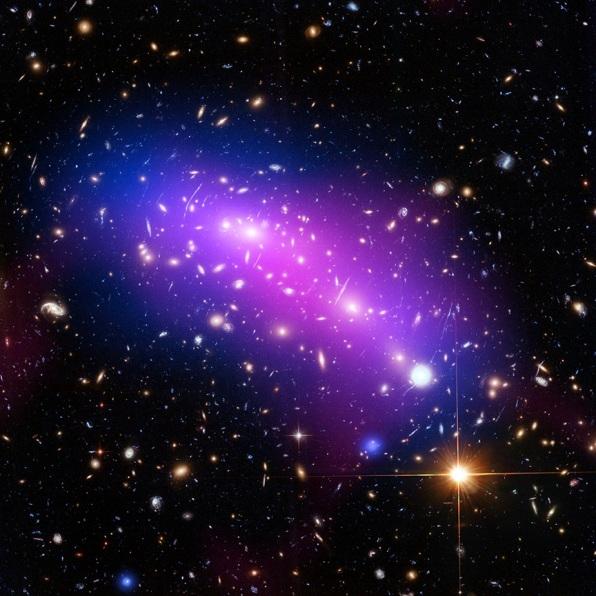 تصویری از خوشه ی کهکشانی MACS J0416